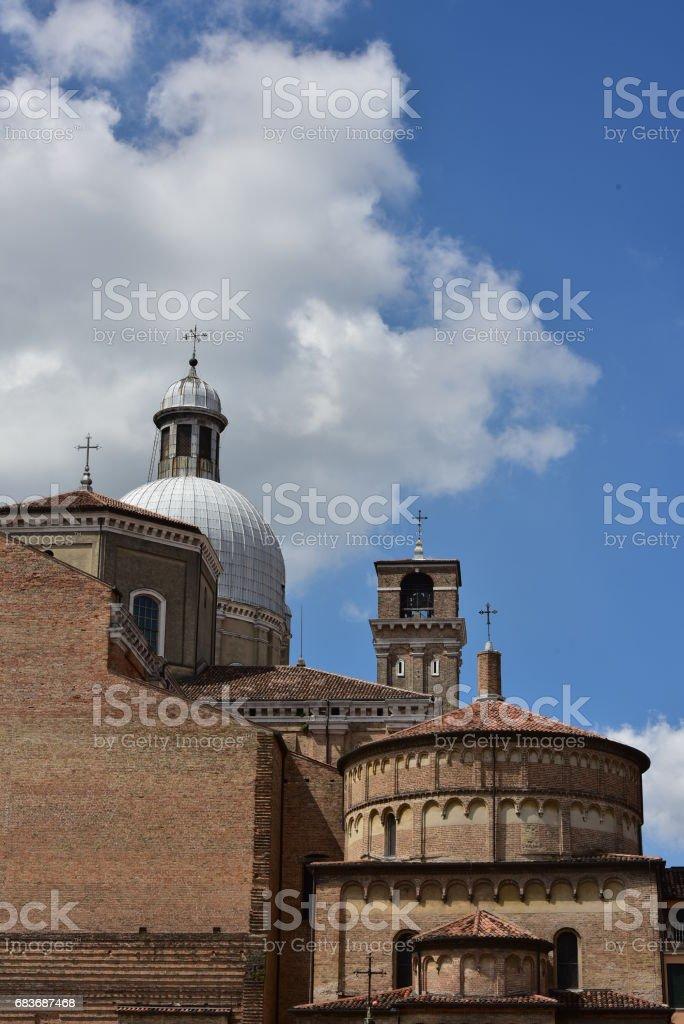 Cupole del Duomo di Padova stock photo