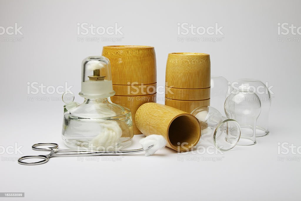 Cupping equipment royalty-free stock photo