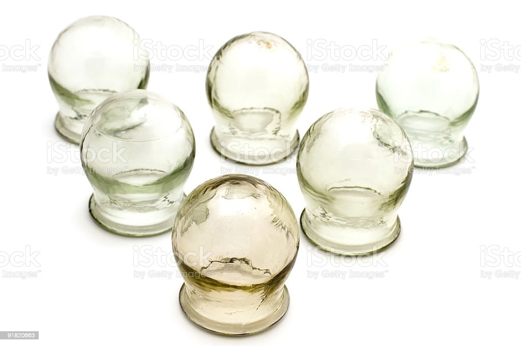 cupping glass royalty-free stock photo