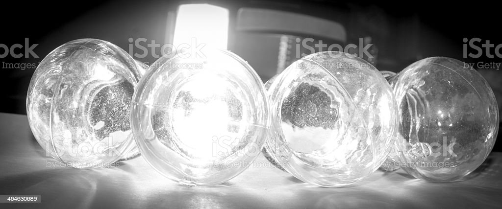 Cupping jar stock photo