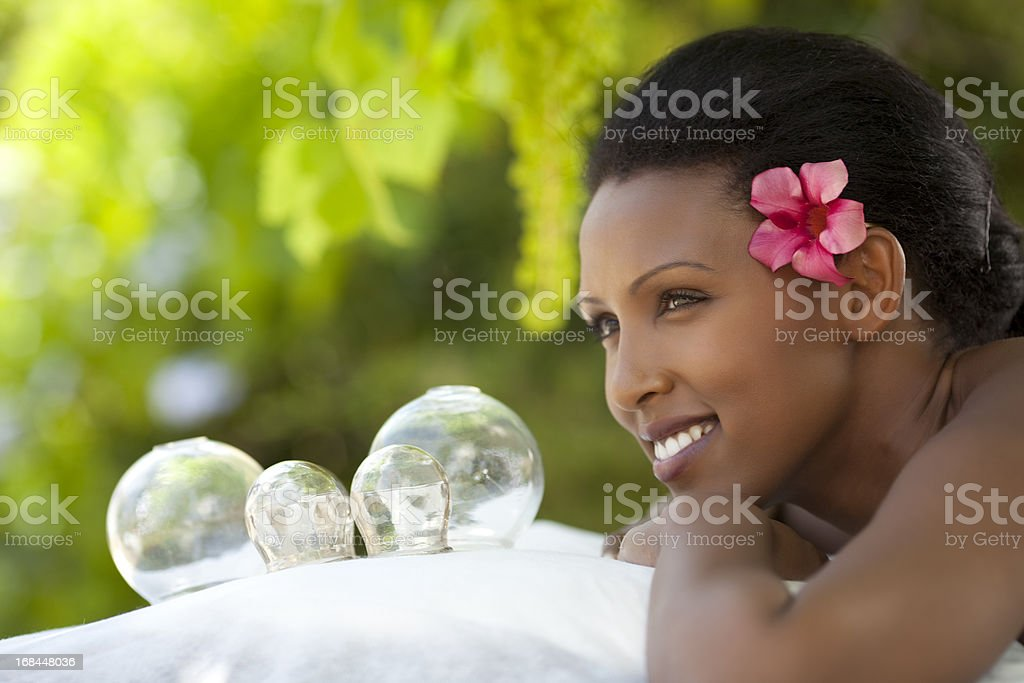 Cupping Therapy (TCM) royalty-free stock photo