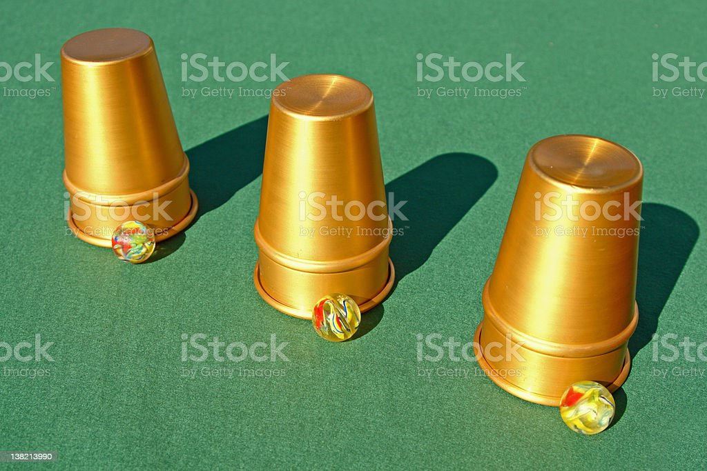 Cups and Balls stock photo