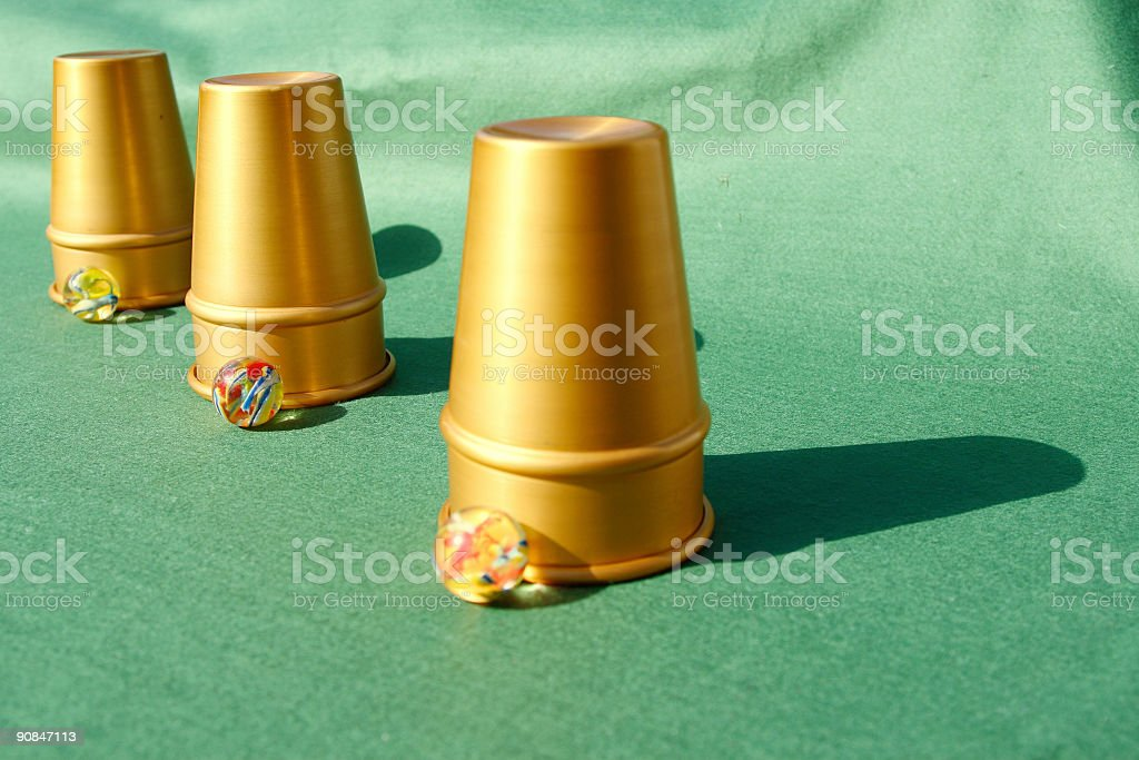 Cups and Balls royalty-free stock photo