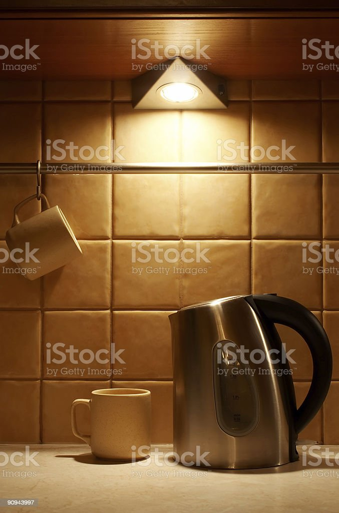 Cups and kettle royalty-free stock photo