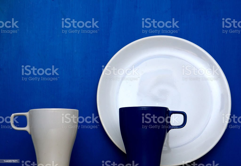 Cups and plate royalty-free stock photo