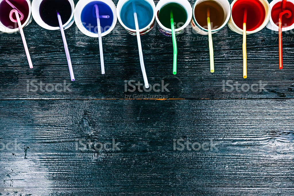 Cups and straws stock photo