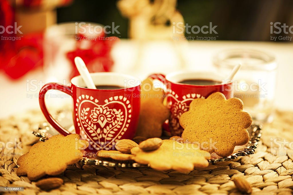 Cups of christmas drink royalty-free stock photo