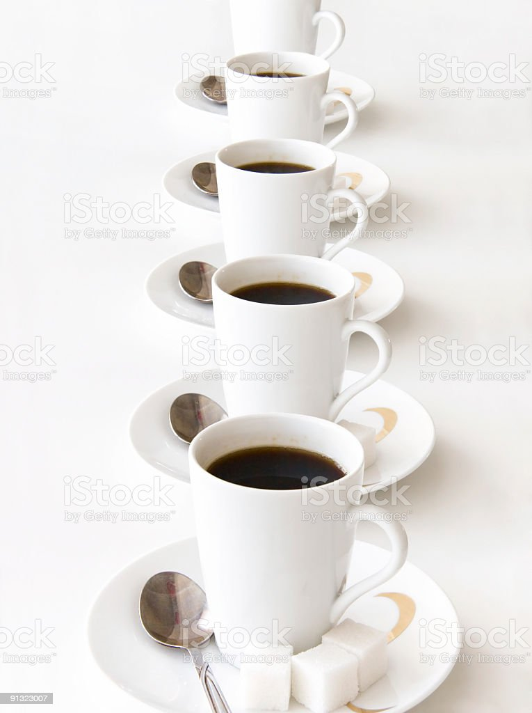 Cups of coffe royalty-free stock photo