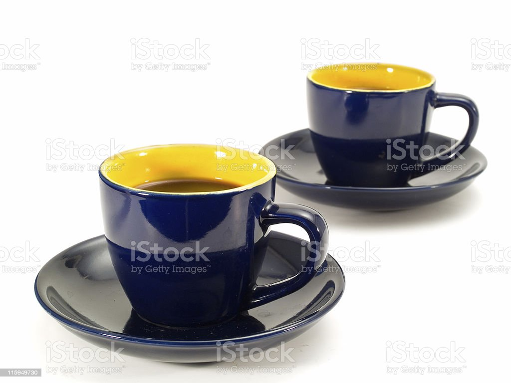 Cups of coffee royalty-free stock photo