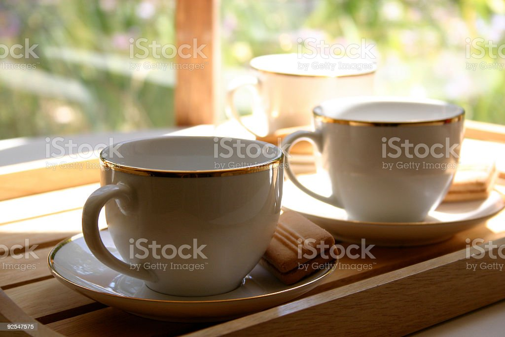 Cups of Tea, 3 royalty-free stock photo