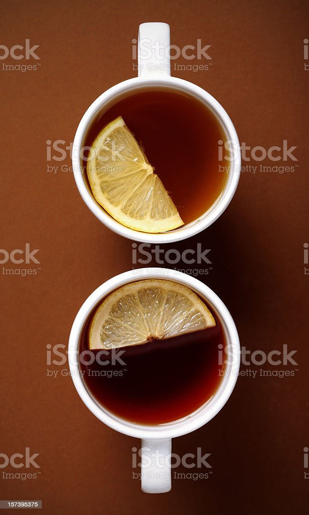 cups of tea royalty-free stock photo