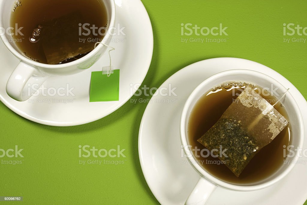 Cups of tea stock photo