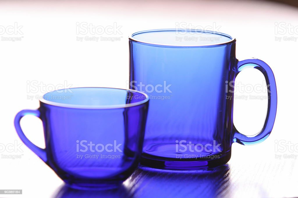 Cups on the table royalty-free stock photo