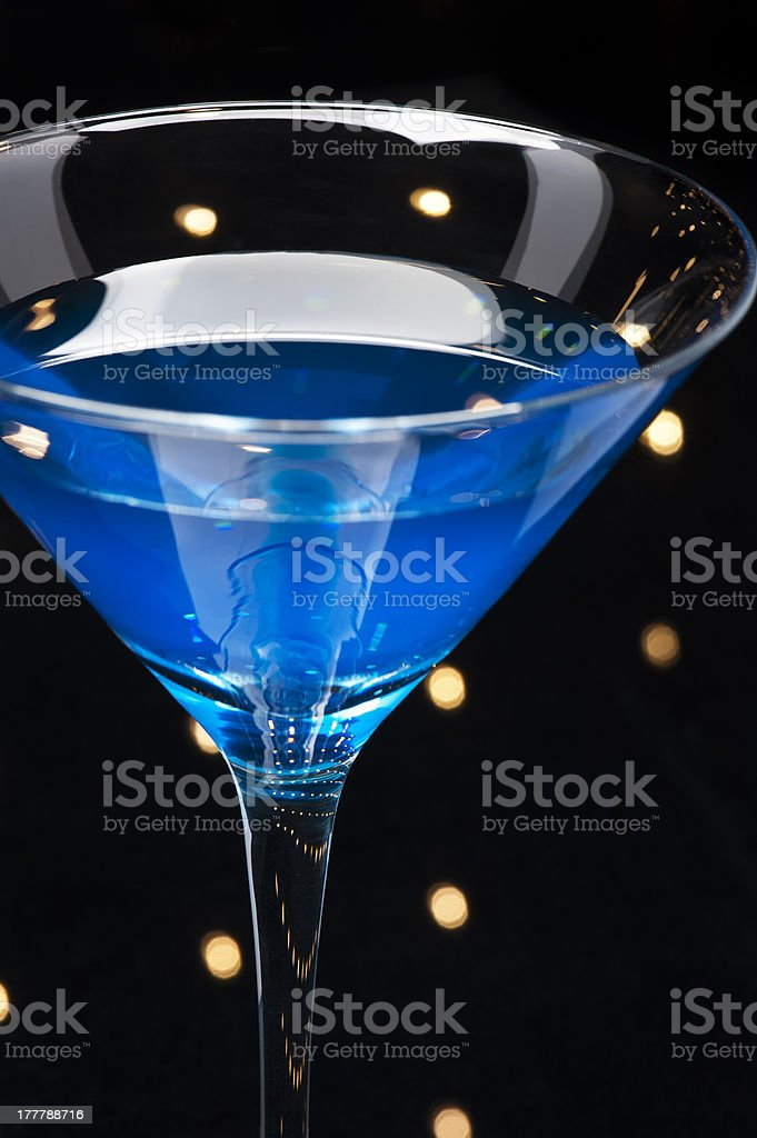 Curacao Cocktail royalty-free stock photo