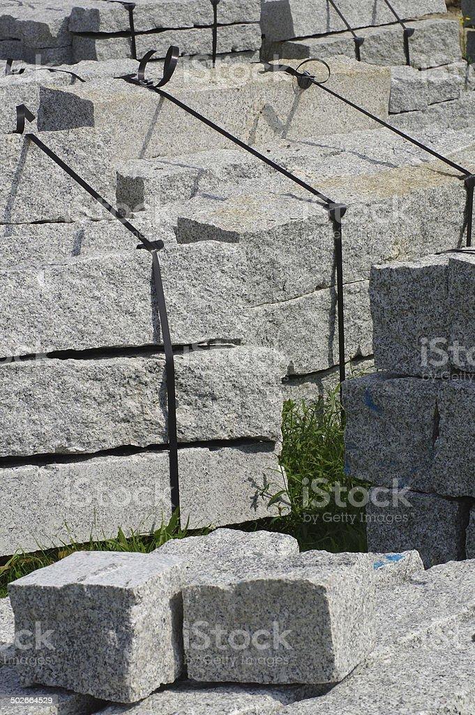 curbs stone 6 stock photo