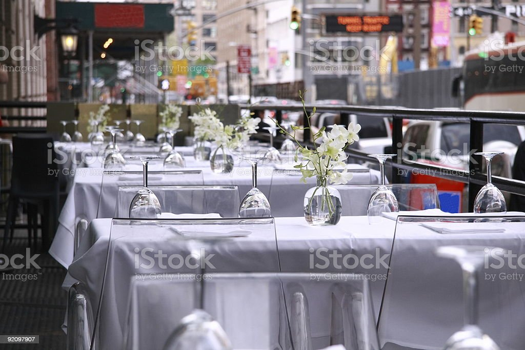Curbside Dining stock photo