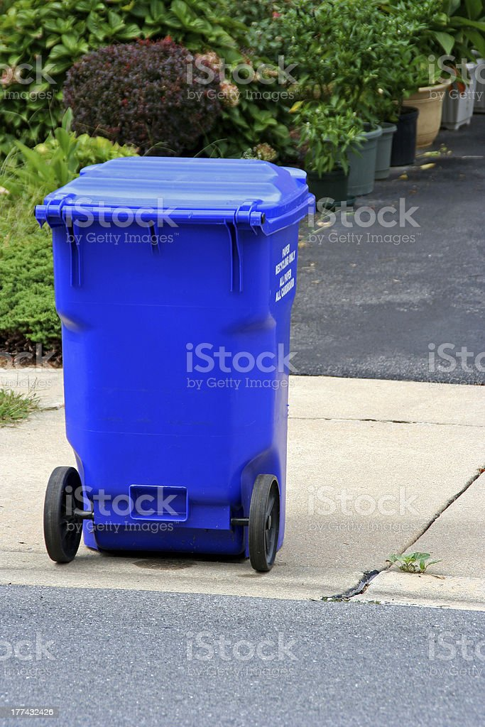 Curbside recycling royalty-free stock photo