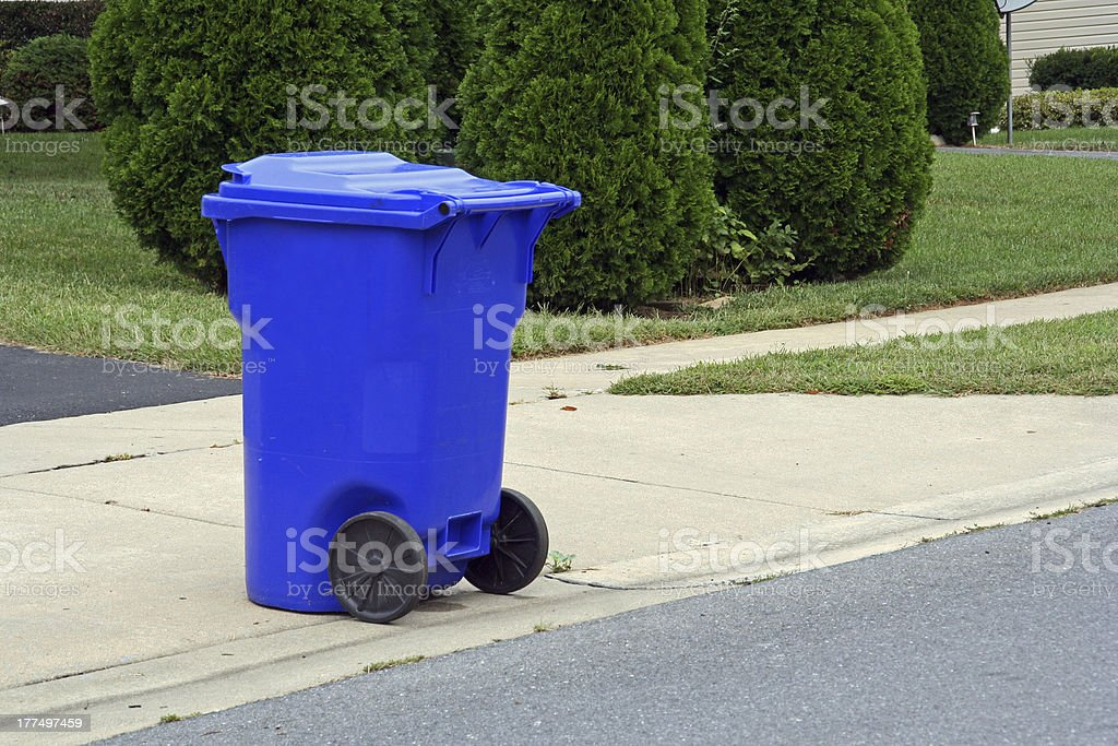 Curbside recycling stock photo