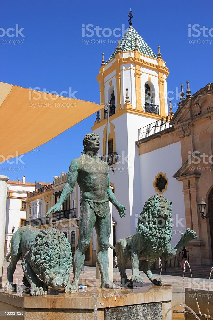 Curch in Spain stock photo