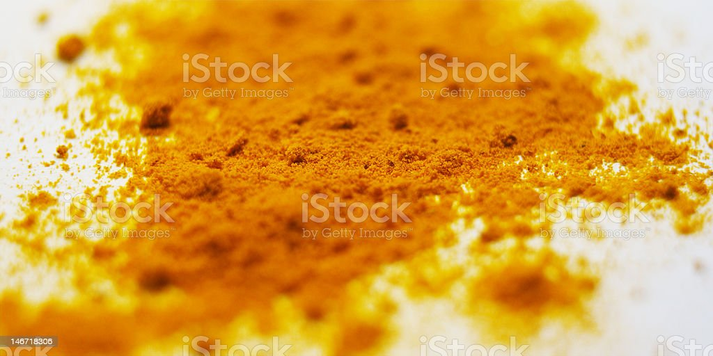 Curcuma spice - close-up royalty-free stock photo