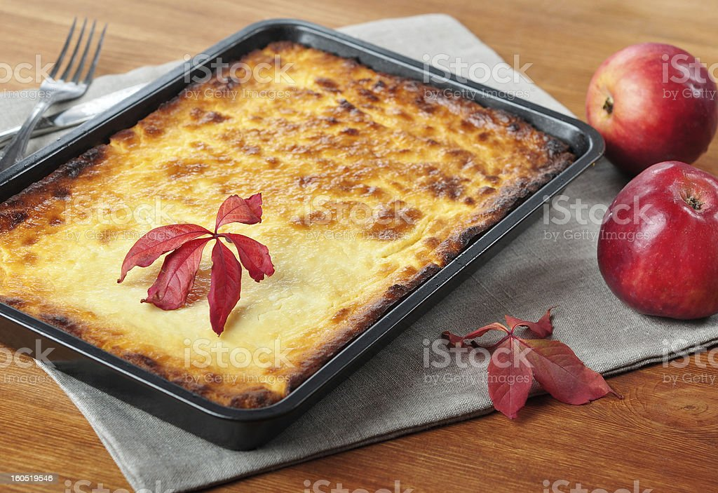 Curd casserole. royalty-free stock photo