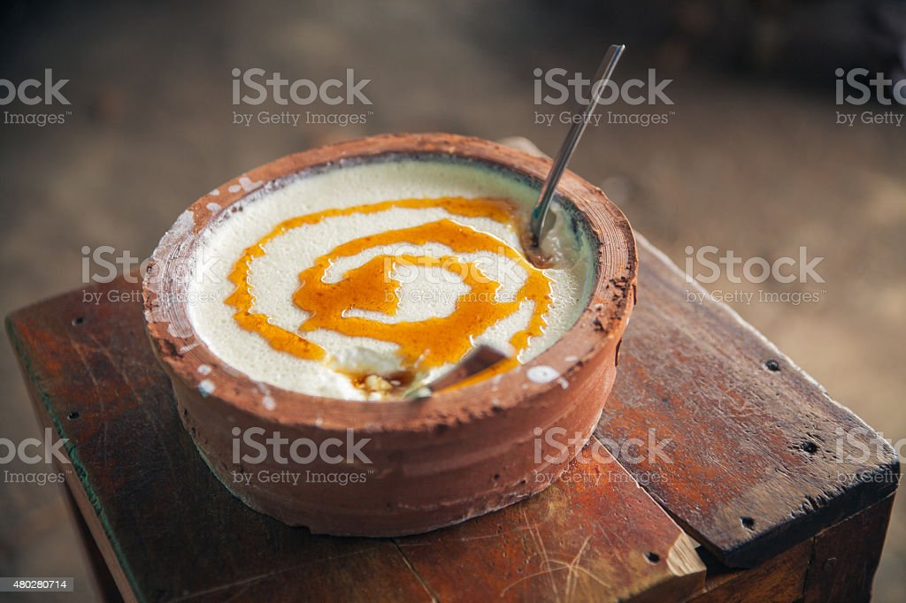 Curd yoghurt stock photo