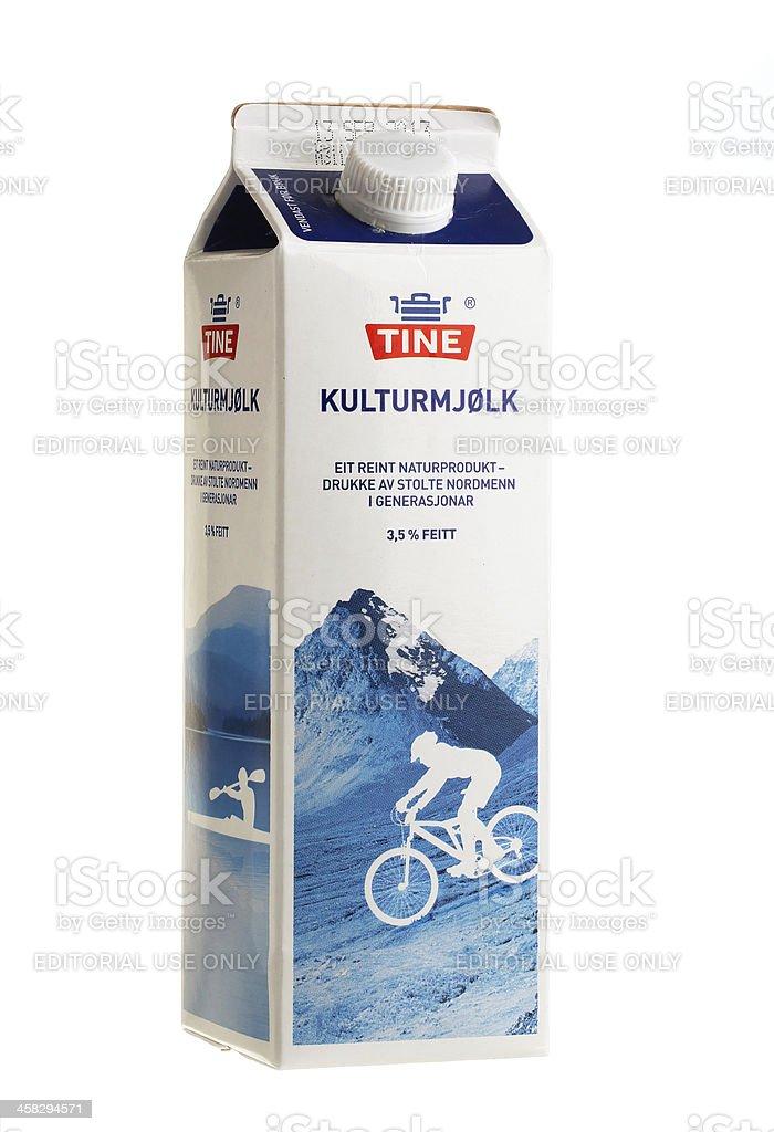 Curdled milk royalty-free stock photo