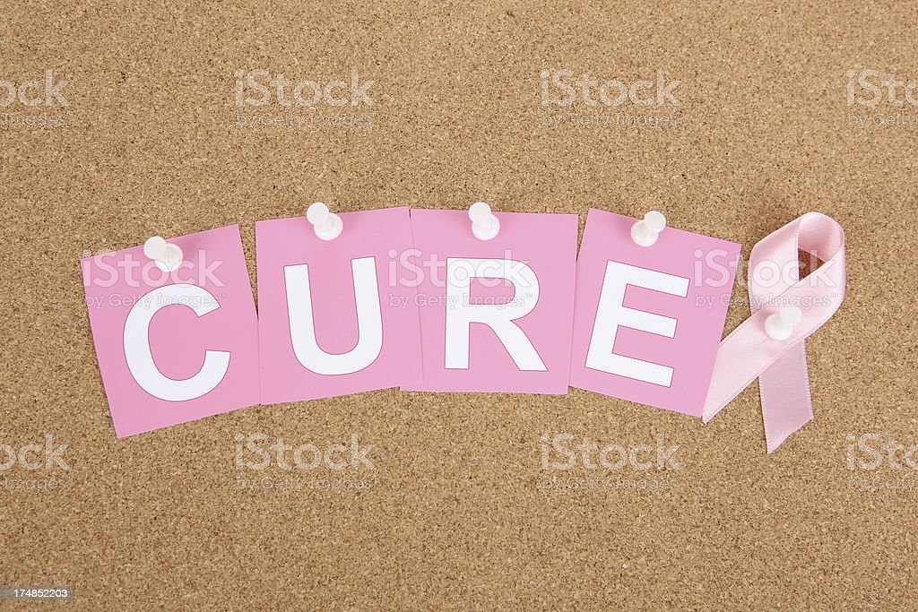 Cure for Breast Cancer royalty-free stock photo