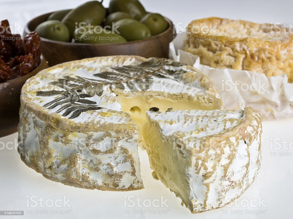 Cured Brie Cheese royalty-free stock photo