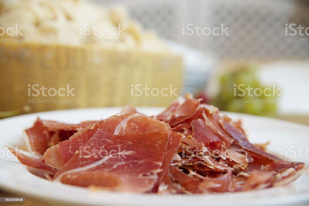 생 햄, 치즈 royalty-free 스톡 사진
