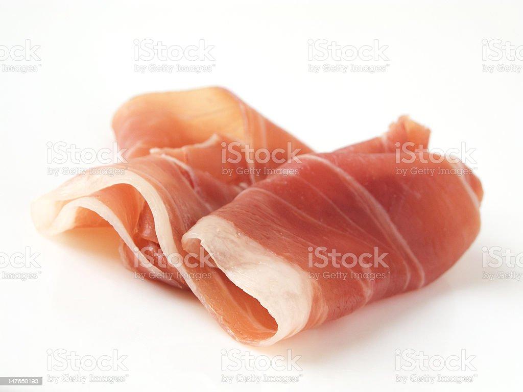 Cured Ham (Italian Prosciutto di Parma) stock photo