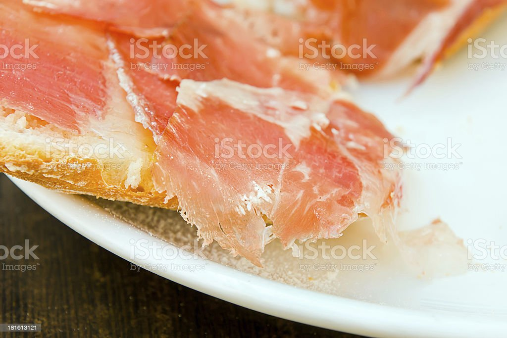 cured ham royalty-free stock photo