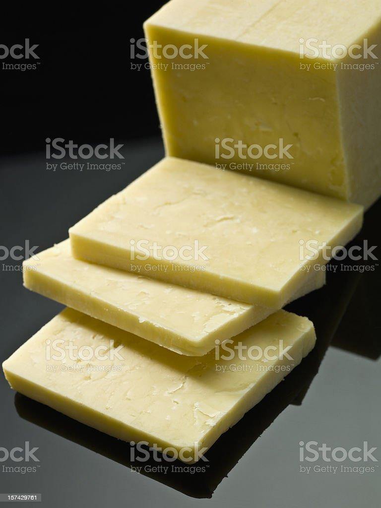 Cured Irish cheese (Dubliner) royalty-free stock photo