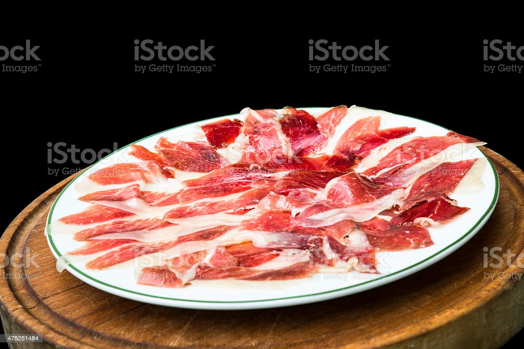 Cured meat stock photo