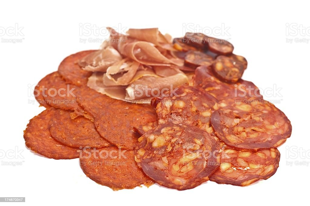 Cured Meats royalty-free stock photo
