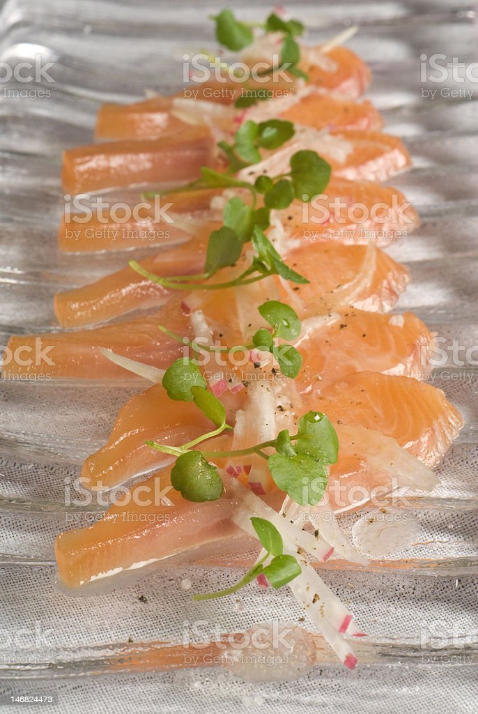 cured rainbow trout royalty-free stock photo