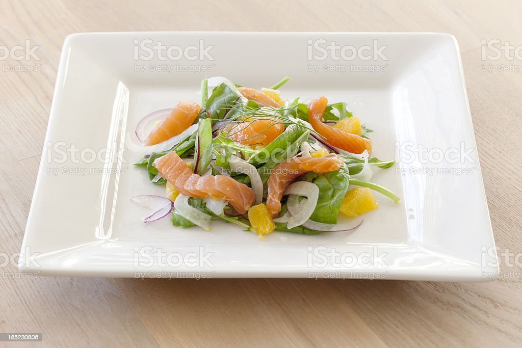 Cured Salmon Orange & Fennel Salad stock photo