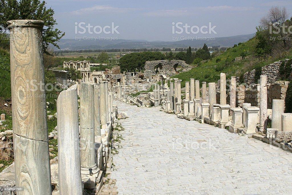 Curetes Street, Ephesus stock photo