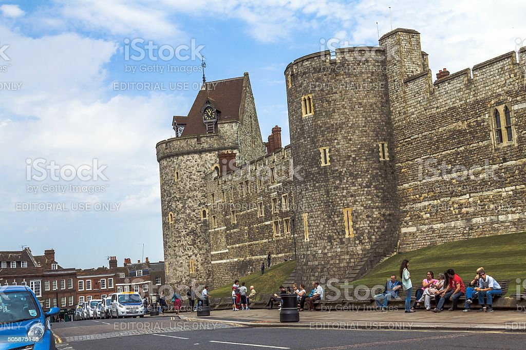 Curfew Tower, part of  Lower Ward in medieval Windsor Castle stock photo