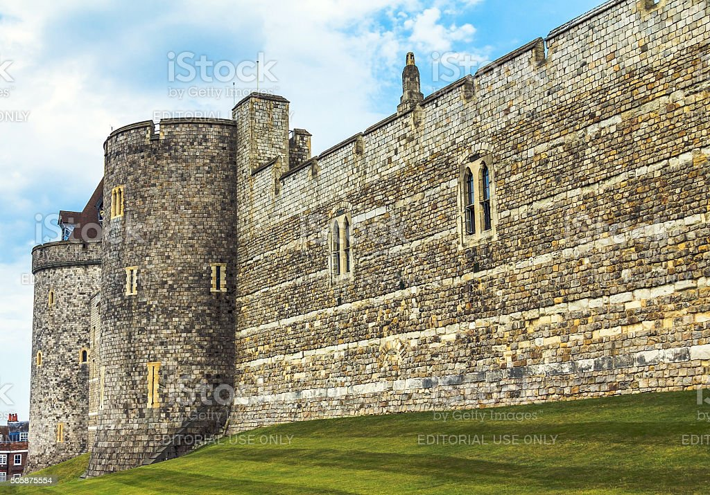 Curfew Tower, part of Lower Ward in medieval Windsor Castle. stock photo