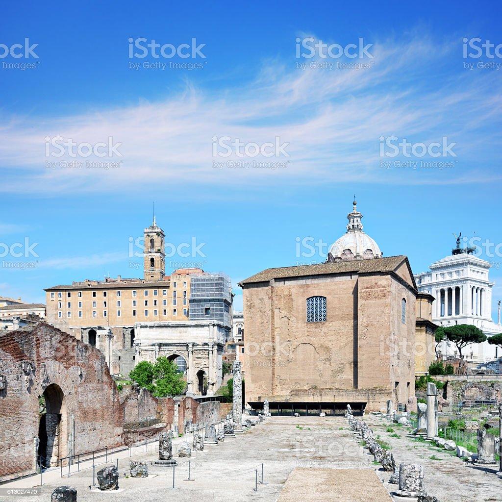 Curia Julia, Roma stock photo