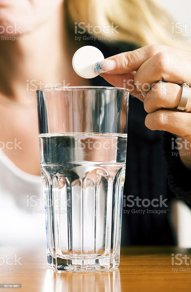 Curing the flu royalty-free stock photo