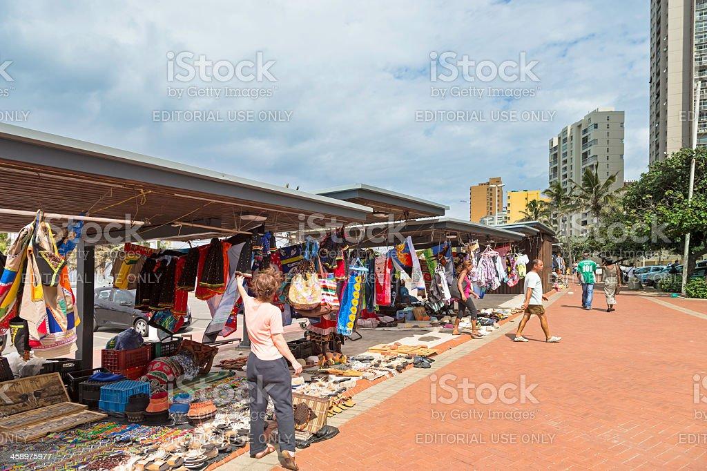 Curios on Durban Beachfront royalty-free stock photo