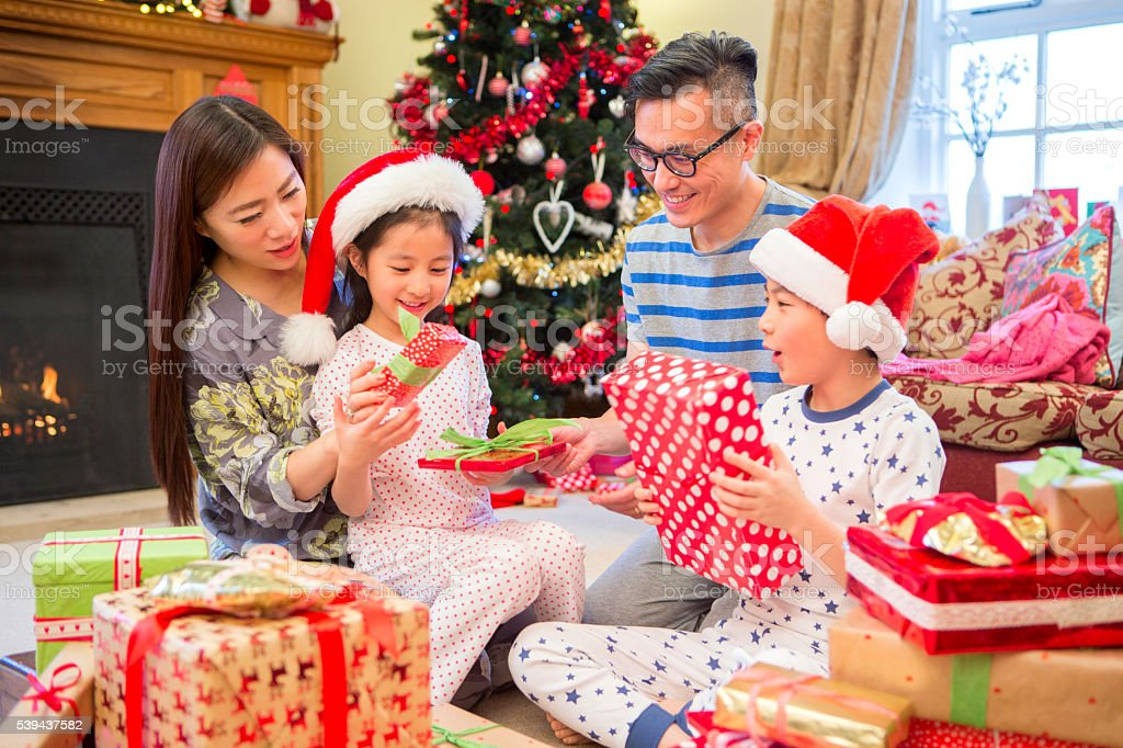 Curiosity at Christmas Time stock photo