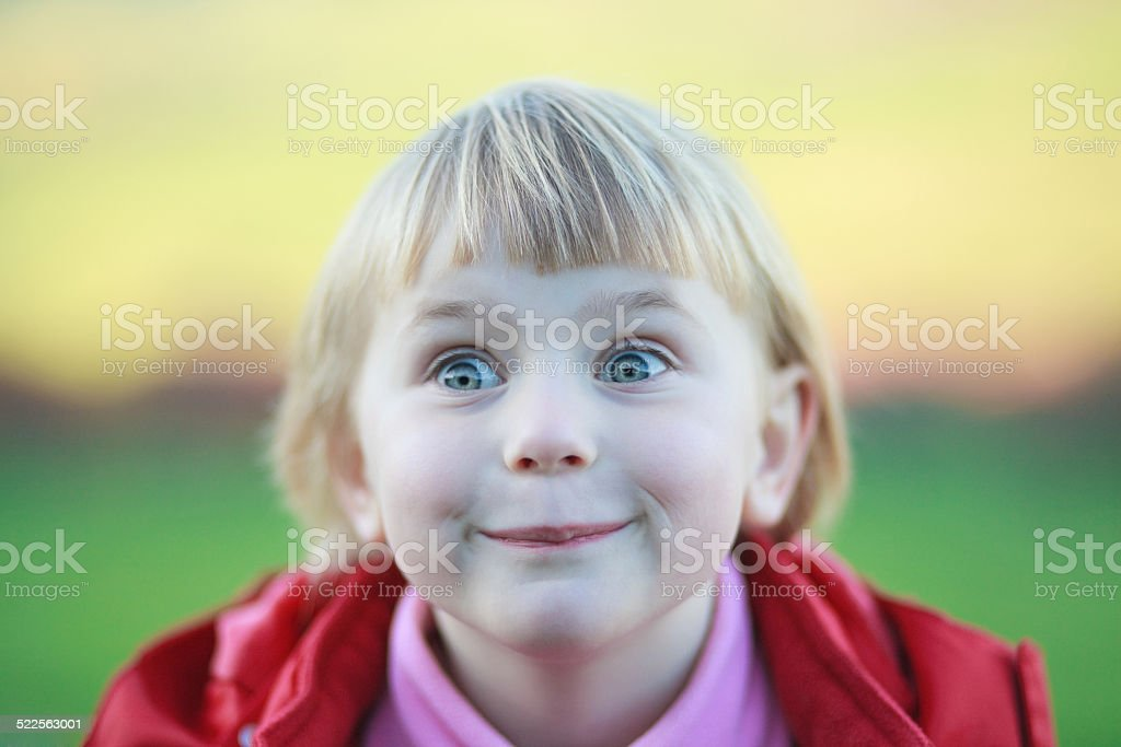 curious and happy stock photo