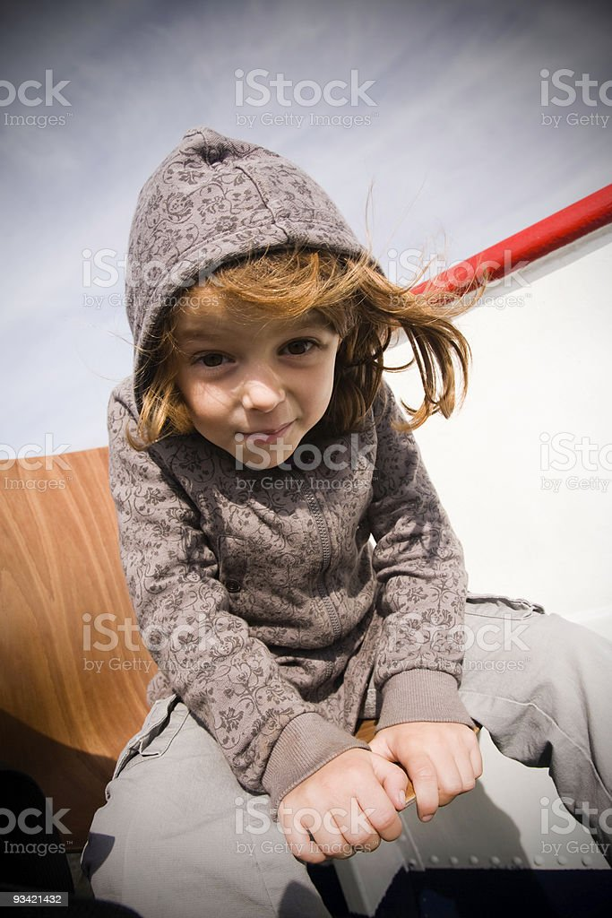 Curious Character Girl royalty-free stock photo