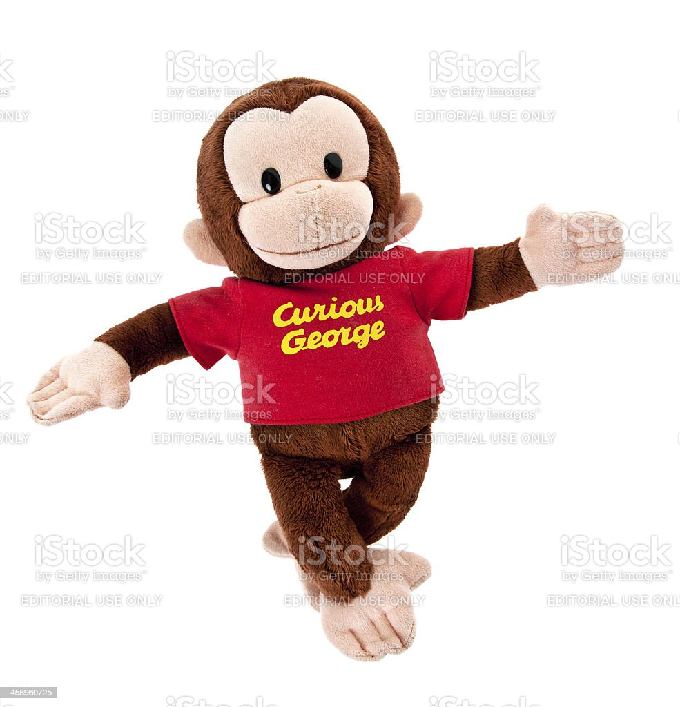Curious George Brown Monkey Toy stock photo