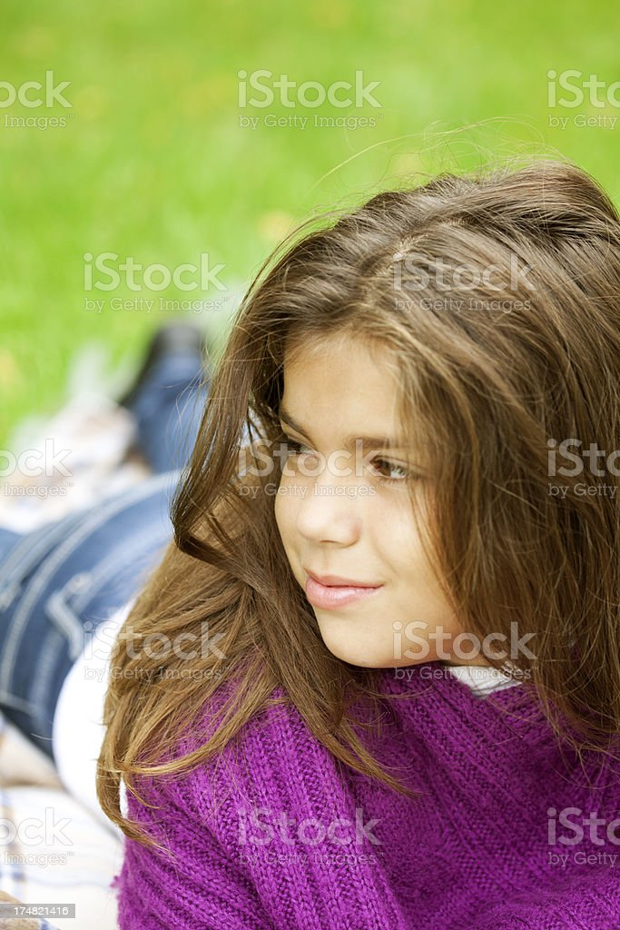curious girl royalty-free stock photo