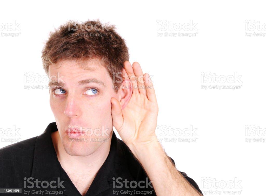 Curious Listening stock photo