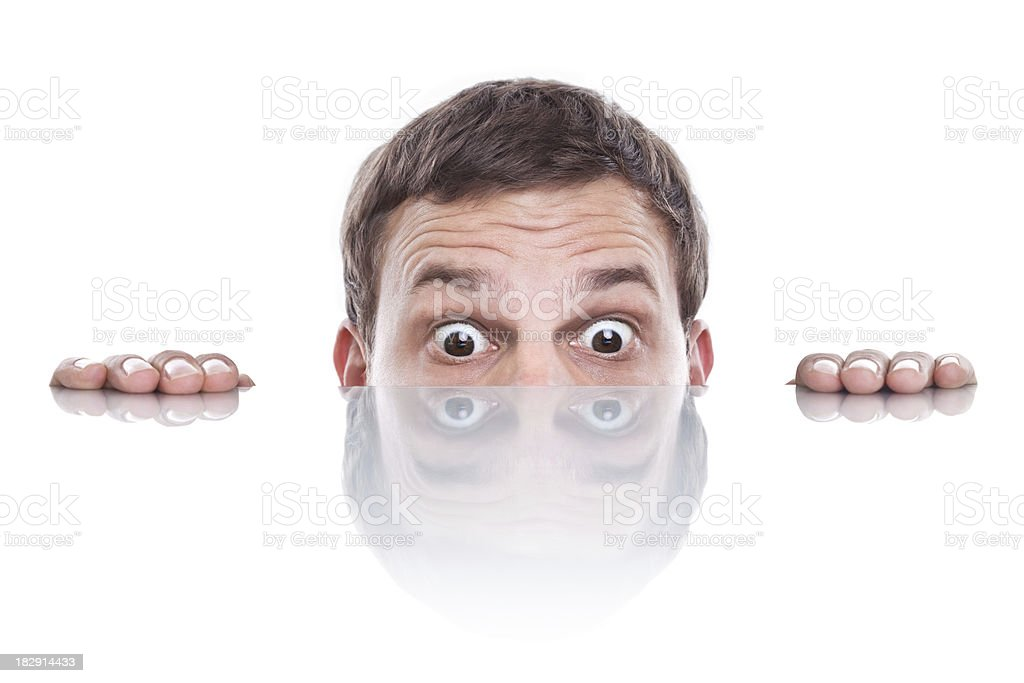 curious looking man royalty-free stock photo
